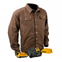 DEWALT® Unisex Heated Heavy Duty Shirt Jacket Kitted Tobacco (#DCHJ081TD1)