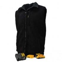 DEWALT® Men's Heated Reversible Fleece Vest Kitted Black (#DCHV086)