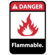 Danger Flammable ANSI Sign (#DGA15)