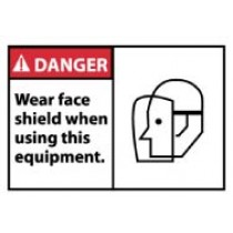 Danger Wear face shield when using this equipment. Machine Label (#DGA27AP)