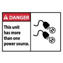 Danger This unit has more than one power source. Machine Label (#DGA56AP)