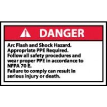 Arc Flash Danger Label (#DGA58AP)
