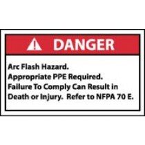 Arc Flash Danger Label (#DGA60AP)