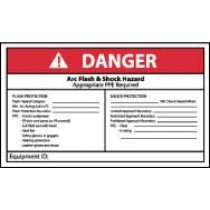 Arc Flash Danger Label (#DGA64AP)