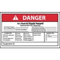 Arc Flash Danger Label (#DGA65AP)