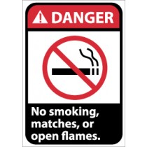 Danger No smoking, matches, or open flames ANSI Sign (#DGA6)