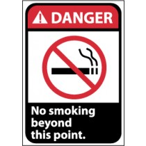 Danger No smoking beyond this point ANSI Sign (#DGA7)