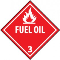 Fuel Oil DOT Shipping Label (#DL100AP)