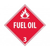 Fuel Oil Class 3 DOT Placard (#DL100)