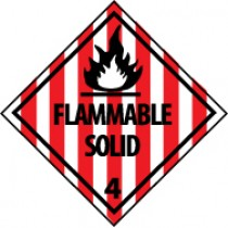Flammable Solid DOT Shipping Label (#DL11AP)
