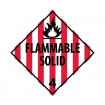Flammable Solid Class 4 DOT Placard (#DL11)