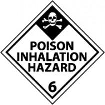 Poison Inhalation Hazard DOT Shipping Label (#DL125AP)