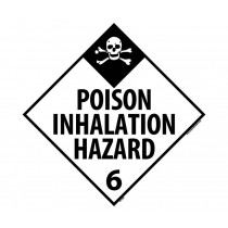 Poison Inhalation Hazard Class 6 DOT Placard (#DL125)