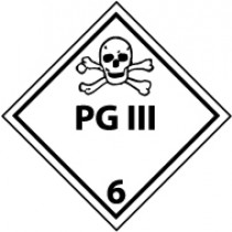 PG III DOT Shipping Label (#DL127AP)