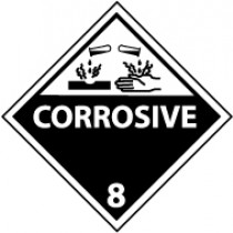 Corrosive 8 DOT Shipping Label (#DL12AP)