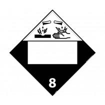 Corrosive Class 8 Blank DOT Placard (#DL12B)