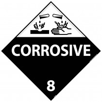 Corrosive Class 8 DOT Placard (#DL12)