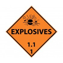 Explosives 1.1.1 DOT Placard (#DL130)