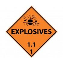 Explosives 1.1.1 DOT Placard (#DL130)