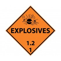 Explosives 1.2 1 DOT Placard (#DL131)