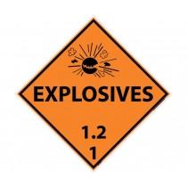 Explosives 1.2 1 DOT Placard (#DL131)