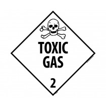 Toxic Gas Class 2 DOT Placard (#DL133)
