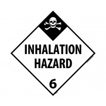 Inhalation Hazard Class 6 DOT Placard (#DL135)