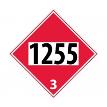 Naptha Permanent 4-Digit Placard (#DL137)