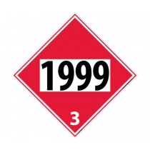 Asphalt, Tars Permanent 4-Digit Placard (#DL144)