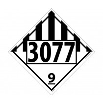 Environmental Hazard / Solid Permanent 4-Digit Placard (#DL148)