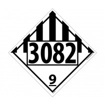 Environmental Hazard / Liquid Permanent 4-Digit Placard (#DL149)