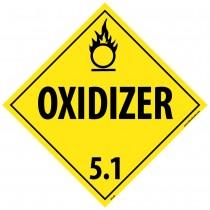 Oxidizer 5.1 Class 5 DOT Placard (#DL14)