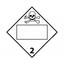 Poison Gas Class 2 Blank DOT Placard (#DL150B)
