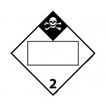 Inhalation Hazard Class 2 Blank DOT Placard (#DL151B)