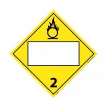 Oxygen Class 2 Blank DOT Placard (#DL152B)