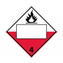 Combustible Class 4 Blank DOT Placard (#DL153B)