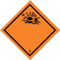Explosive Graphic DOT Shipping Label (#DL155AP)