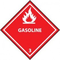 Gasoline DOT Shipping Label (#DL157AP)