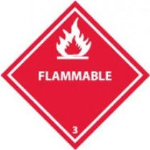 Flammable DOT Shipping Label (#DL158AP)