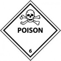 Poison DOT Shipping Label (#DL159AP)