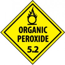 Organic Peroxide 5.2 DOT Shipping Label (#DL15AP)
