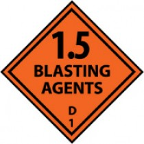 1.5 Blasting Agents D 1 DOT Shipping Label (#DL20AP)