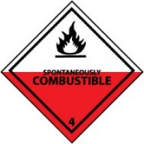 Spontaneously Combustible DOT Shipping Label (#DL21AP)