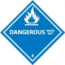 Dangerous When Wet DOT Shipping Label (#DL22AP)