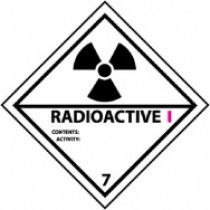 Radioactive I DOT Shipping Label (#DL25AP)