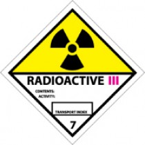 Radioactive III DOT Shipping Label (#DL27AP)