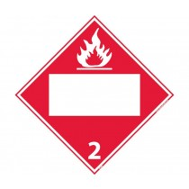 Flammable Gas Class 2 Blank DOT Placard (#DL2B)