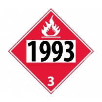 Combustible Liquid Permanent 4-Digit Placard (#DL40)