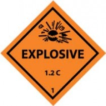 Explosive 1.2C DOT Shipping Label (#DL43AP)