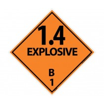 1.4 Explosive B 1 DOT Placard (#DL44)